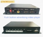 Push button advertising video player